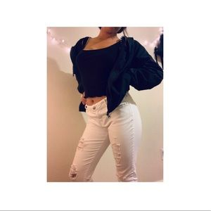 Ripped White Pacsun Jeans